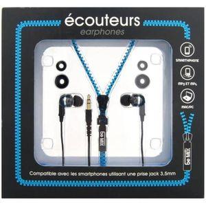 CASQUE - ÉCOUTEURS Ecouteurs intra-auriculaire Design Fermeture Eclai