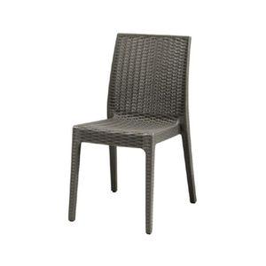 Chaise de jardin en résine couleur anthracite EG55136 ...