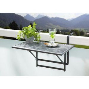 table balcon suspendue achat vente table balcon suspendue pas cher cdiscount. Black Bedroom Furniture Sets. Home Design Ideas