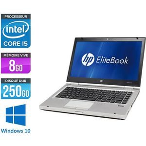 ORDINATEUR PORTABLE Pc portable HP EliteBook 8460P - i5 - 8Go - 250Go
