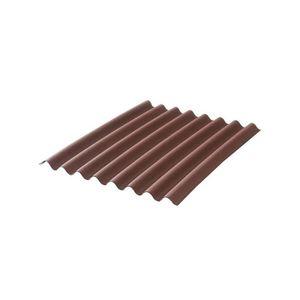 PLAQUE - BARDEAU Plaque bitumée ondulée - L: 2 m - l: 86 cm - Rouge