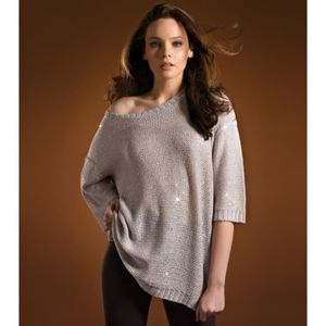 PULL Pull femme paillettes manches 3/4 Venca