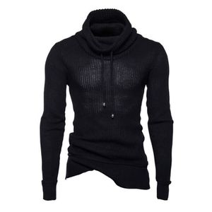SOUS-PULL Pull homme Pullover Couleur unie Col haut Pull imp