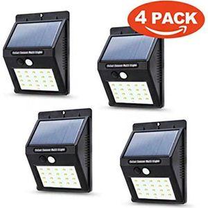 APPLIQUE EXTÉRIEURE Lampe Solaire Extérieur, [4-Pack] 20 Led Lumière S