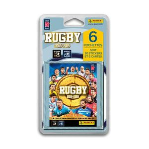 CARTE A COLLECTIONNER RUGBY 2018 2019 Stickers - Blister de 6 pochettes