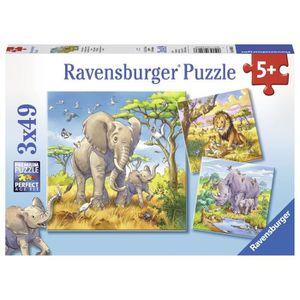 PUZZLE Puzzle 3x49 pcs les Grands Sauvages