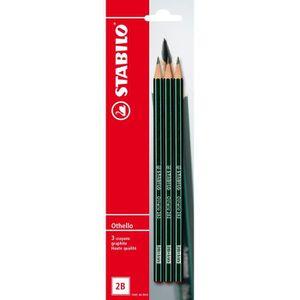 CRAYON GRAPHITE STABILO Blister de 3 Crayons Hexagonal Othello - 2