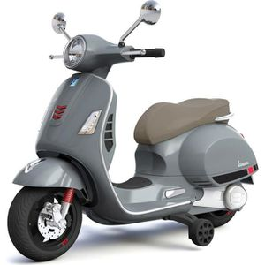 MOTO - SCOOTER VESPA Scooter électrique avec MP3/USB/SD - Gris