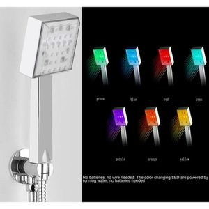 DOUCHETTE - FLEXIBLE Pommeau de douche LED 7 couleurs ----DQ FRANCE