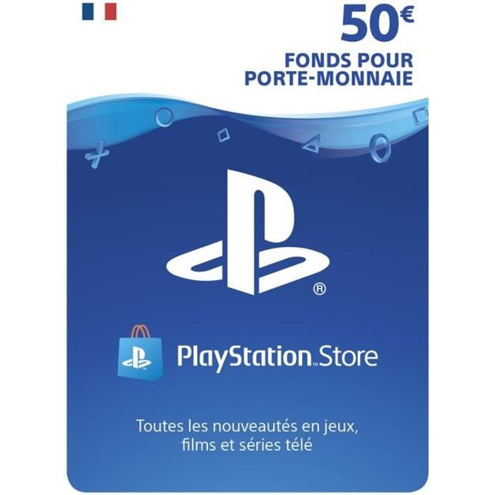 playstation network live card 50 ps4 ps3 ps vita achat vente carte multimedia. Black Bedroom Furniture Sets. Home Design Ideas
