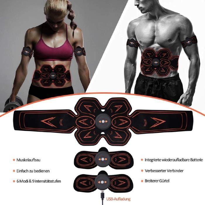 2019 NOUVEAU Stimulateur électrique EMS de muscle Stimulator USB rechargeable muscle Training Entraînement ORANGE