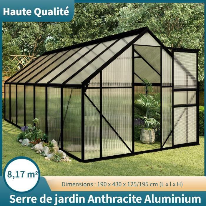 Serre Anthracite Aluminium 8,17 m² -OLL -PAI