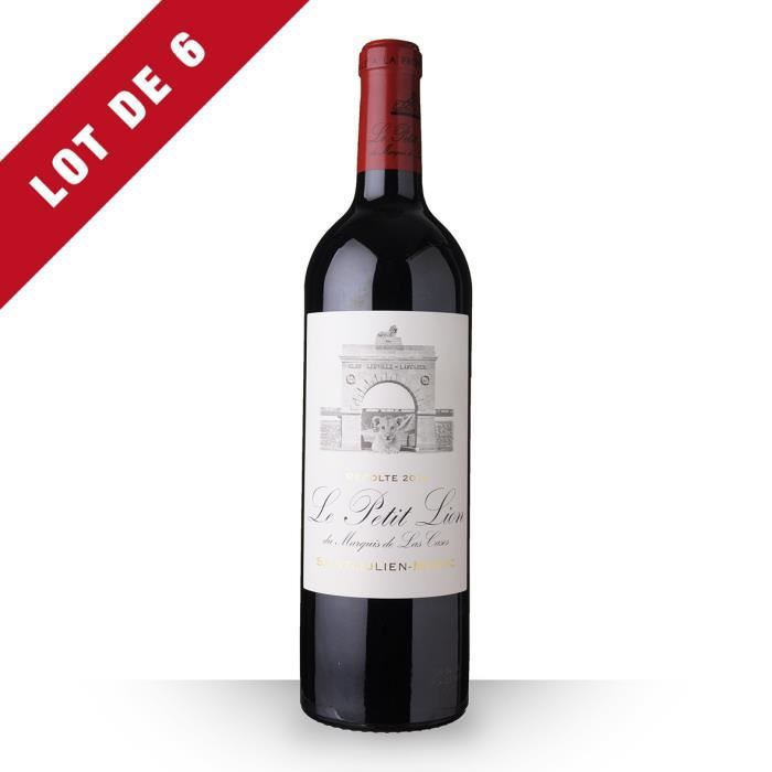 6X Le Petit Lion du Marquis de Las Cases 2014 Rouge 75cl AOC Saint-Julien - Vin Rouge