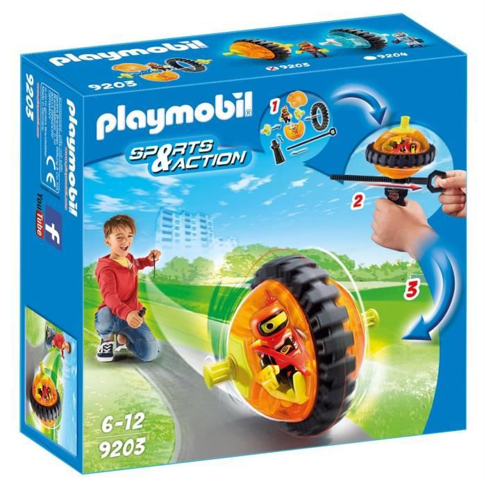 PLAYMOBIL 9203 - Sports & Action - Toupie Orange