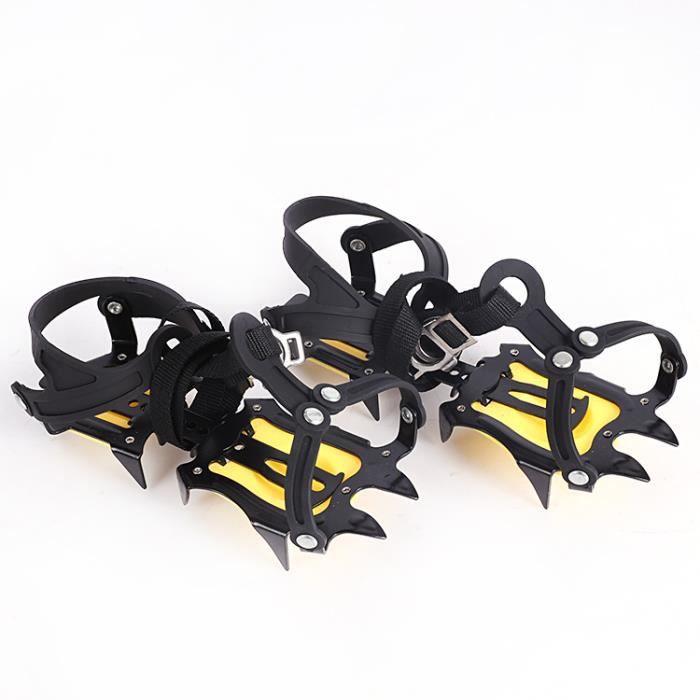 Crampons Mécanisme d'Escalade en Acier à 10 Points Crampons Pince à Glace Crampon Dispositif de Traction 37-45 PAN®