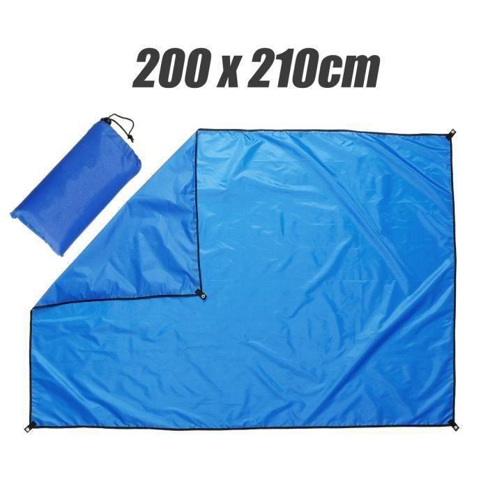 Voile D'ombrage Rectangulaire Tissu Imperméable Pour Jardin 200x210cm Bleu Bo16334