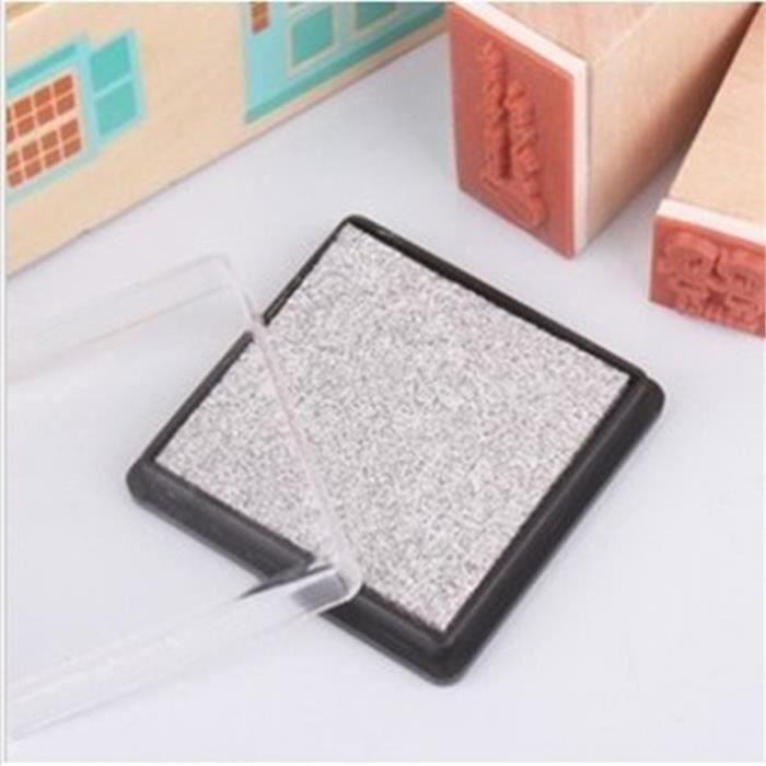 UK DIY Tampons Encreurs Encre Scrapbooking Inkpad Décor Carte Stamp Fête Noel Metallic Silver L00293