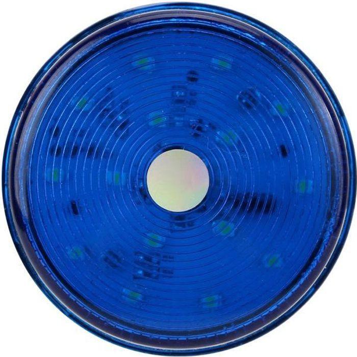 Drfeify lumières LED 12V LED clignotant gyrophare stroboscopique LED voyant d'avertissement lampe d'urgence de sécurité (bleu)