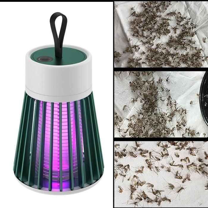 Lampe anti-moustiques, choc électrique, USB, piège à mouches, Zapper, tueur d'insectes, répulsif, pour chambre à coucher, extérieur,