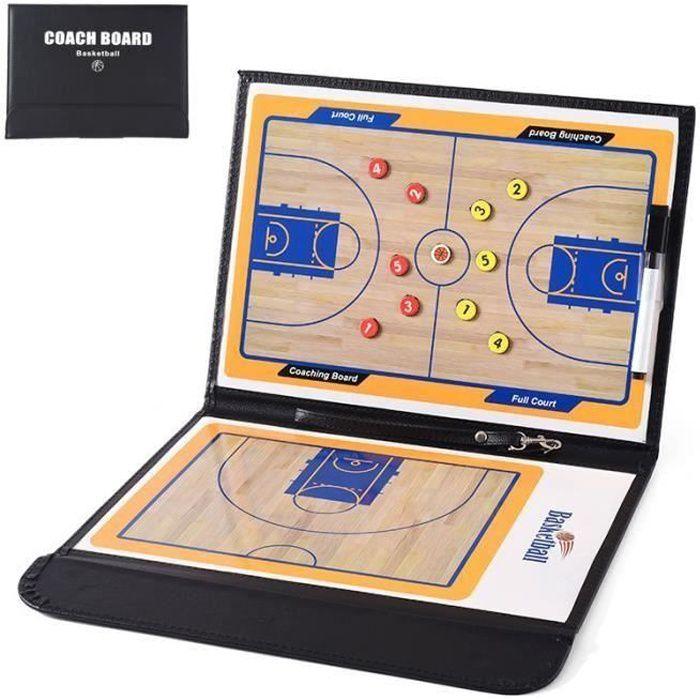 Basketball Tableau Tactique Coach Magnétique Stratégie de d'entraînement Plaque Portable Basket-ball Compétition Coaching Marqueur