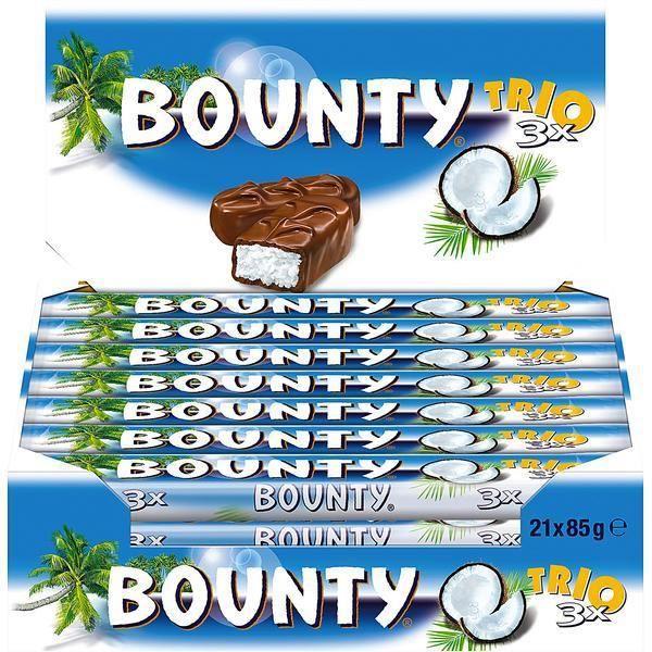Mars Bounty Trio Coconut Barres 21 x 85g