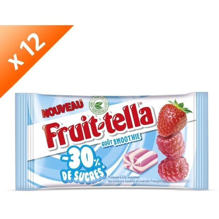 [LOT DE 12] FRUITTELLA Bonbon 30% de sucres - 28g - Smoothie