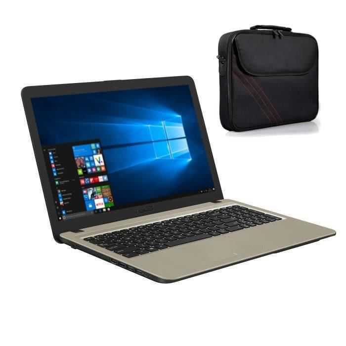 Asus pc portable f540la xx1145t 156 ram 4go intel core i3 4005u stockage 1to hd graphics windows 10 sacoche 156