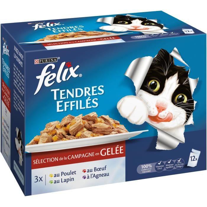 FELIX Gelée de viande pour chats adultes FELIX - 12x100 g