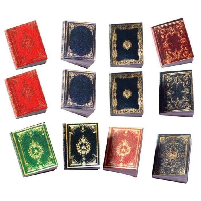 12 pcs mini ornement livres de bricolage artisanat accessoire Accessoire balancoire - portique jeux de recre - jeux d'exterieur