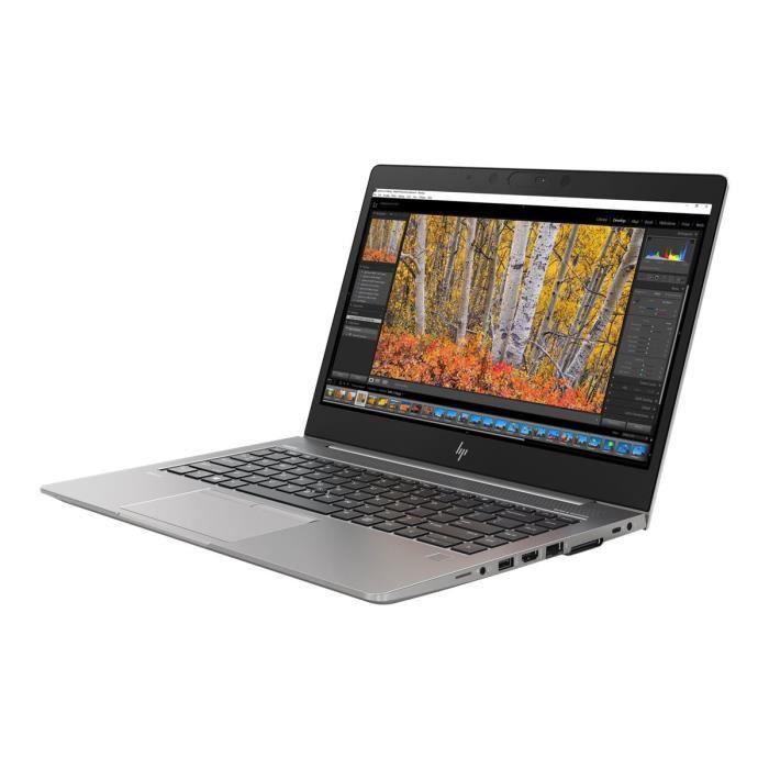 Hp Zbook 14u G5 Mobile Workstation Core i7 8550U / 1.8 Ghz Win 10 Pro 64 bits 16 Go Ram 512 Go Ssd Nvme