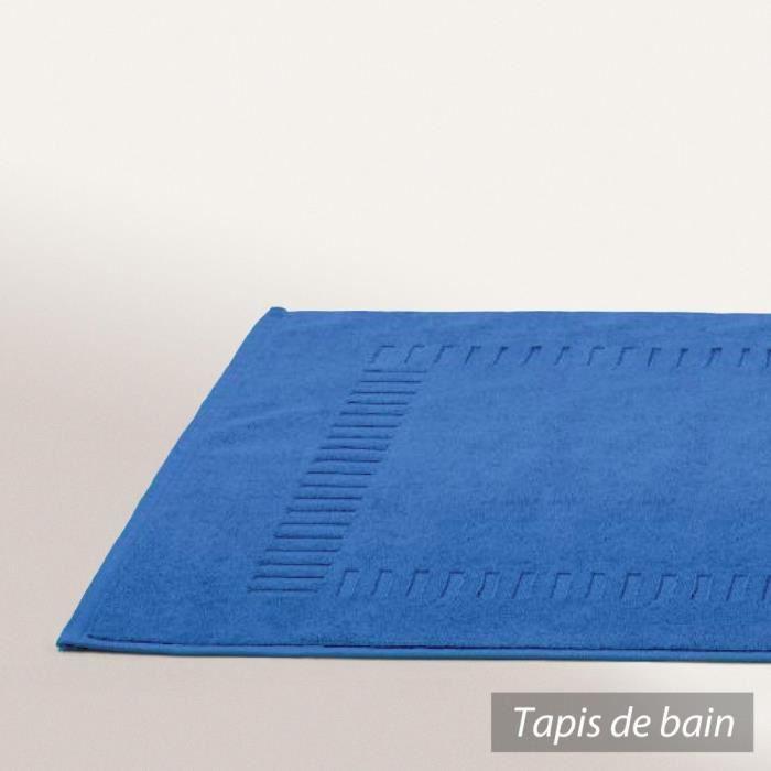 Tapis de bain 50x70 cm PURE Bleu Turquoise 700 ...