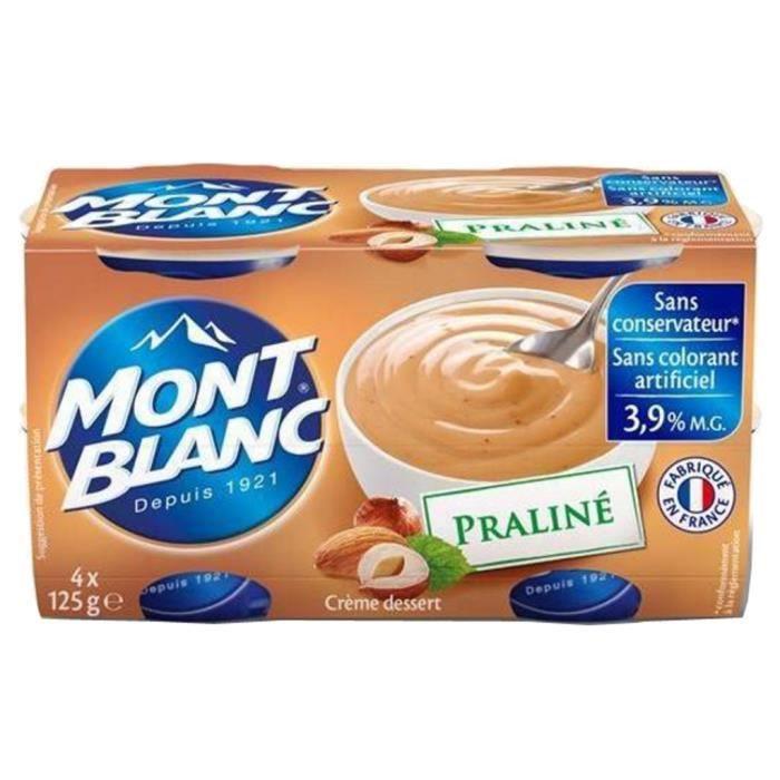 Mont Blanc - Mont Blanc Crème Dessert Praliné (lot de 4)