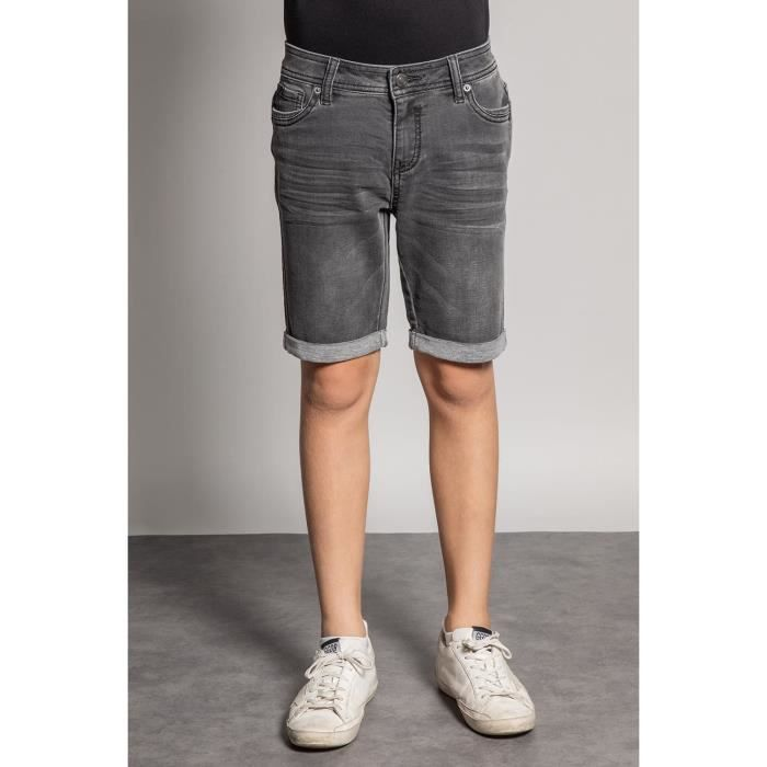DEELUXE Short jogg jean délavé BART Grey Used