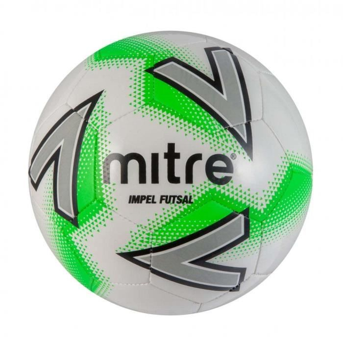 Ballon de football de futsal de football en salle Mitre Impel blanc / vert
