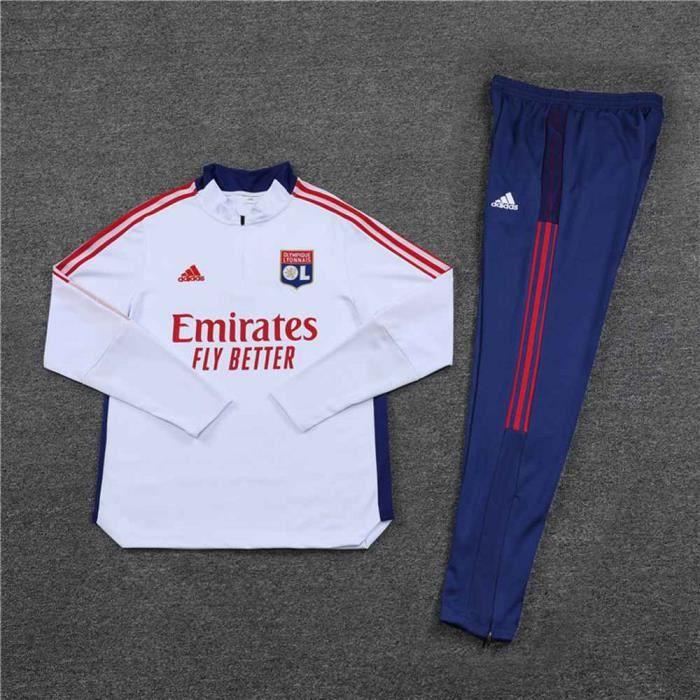 Lyon 2021 2022 Survêtements Foot Homme Enfants Maillot de Football - Blanc