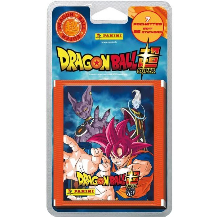 PANINI DRAGON BALL SUPER Blister 7 Pochettes de 5 Stickers