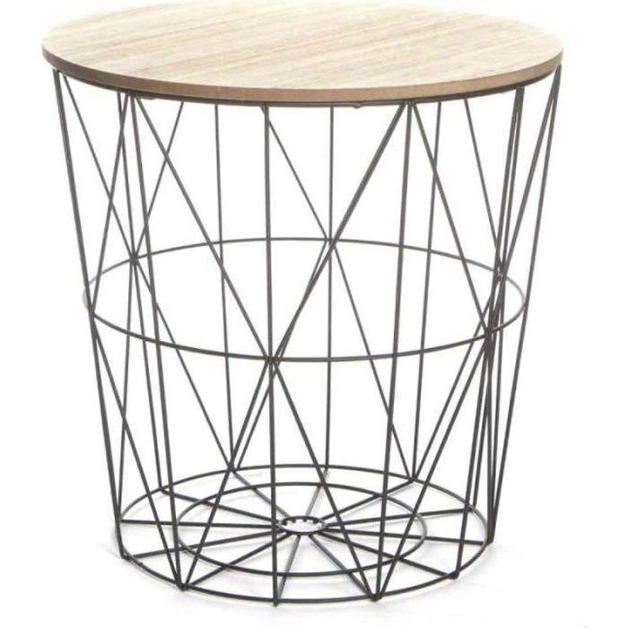 Table d'Appoint Design -Kumi- 41cm Noir