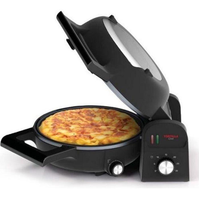 PRINCESS 118000 Four à pizza Tortilla Chef - Noir