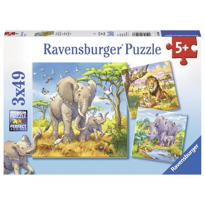 Puzzle 3x49 pcs les Grands Sauvages