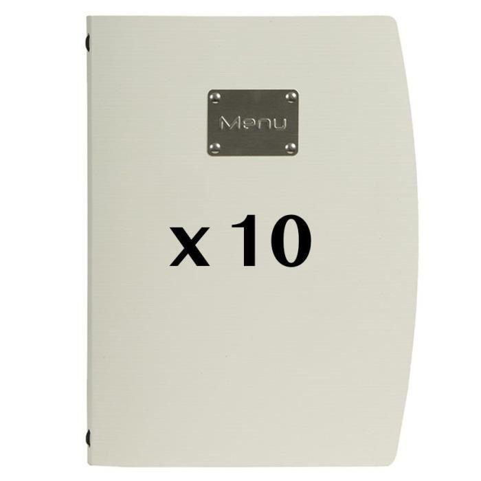 10 Protège-menus Rio Blanc 18 PVC