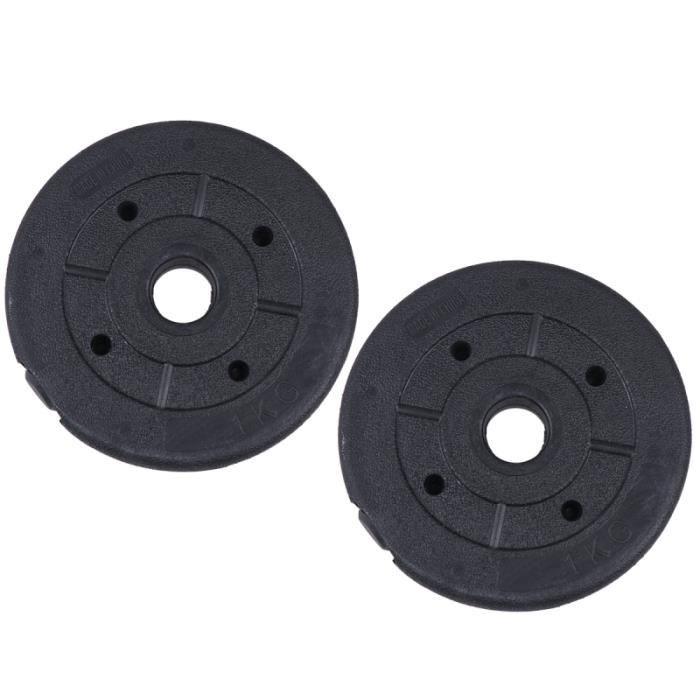 2Pcs 1KG Disques d'haltères Barbell Disque Poids Équipement de sport Gym Essentiel Accessoires BARRE - HALTERE - POIDS
