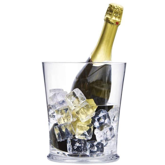 Seau à Champagne en Verre Design