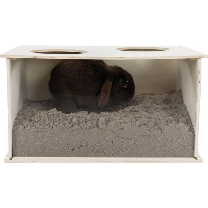 Boîte à fouiner - 58 × 30 × 38 cm - Pour lapin