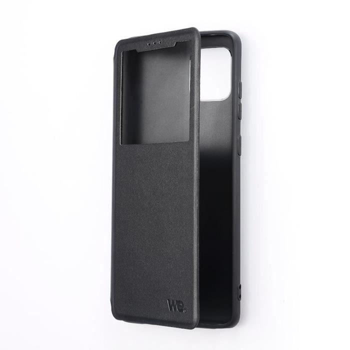 WE Etui de protection pour smartphone Samsung Galaxy A52. Résistant aux chocs et chûtes. Accès caméra et multi-position - noir Noir