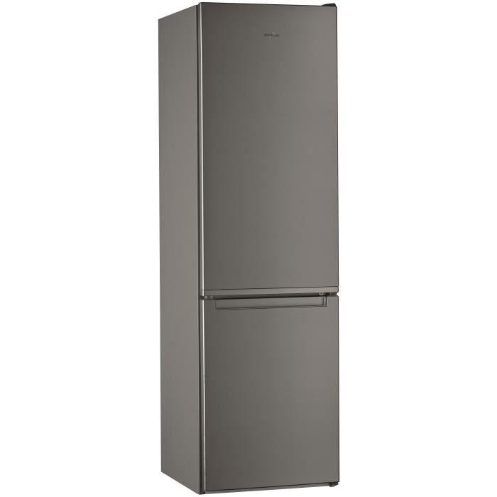 WHIRLPOOL WLF9121OX - Réfrigérateur congélateur bas - 372 L (261 + 111) - Froid statique - A+ - L 59,5 x H 201,1 cm - Inox
