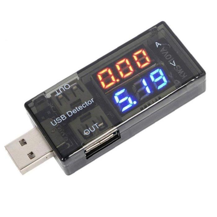 Détecteur USB Digital Compteur Power Testeur Batterie de tension de courant moniteur avec écran LED