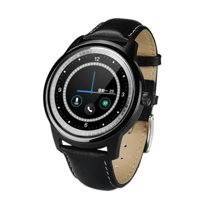 Montre connectée sport Android iOS bracelet cardio tactile IPS horloge MP3 Noir