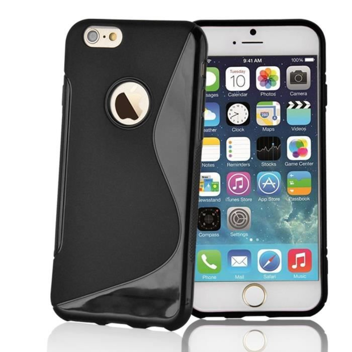 coque silicone apple iphone 6 4 7 noir achat coque bumper pas cher avis et meilleur prix. Black Bedroom Furniture Sets. Home Design Ideas