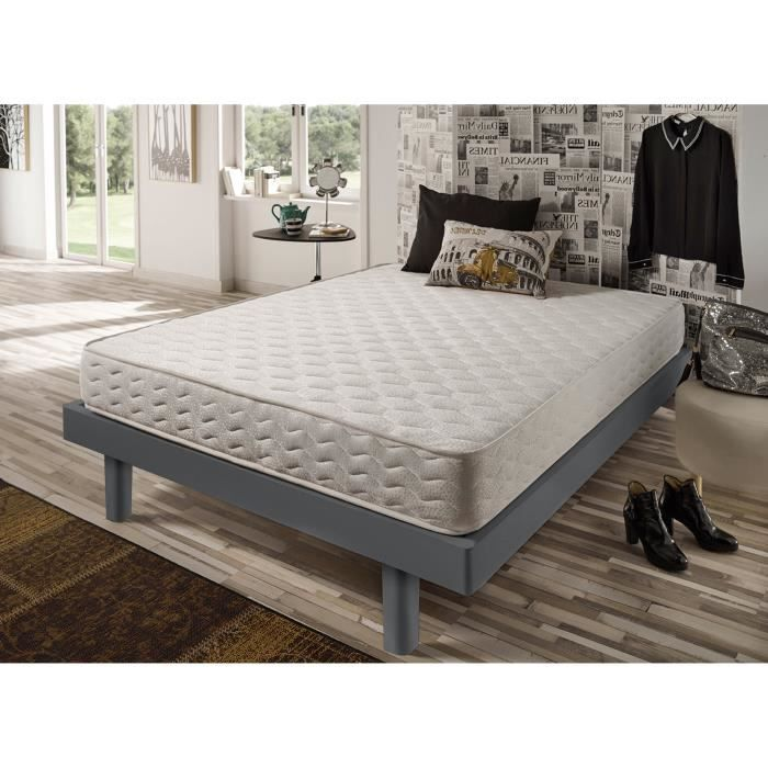 Matelas energy 80x200 cm blue latex mousse haute r silience 7 zones adulte - Matelas 80x200 latex ...