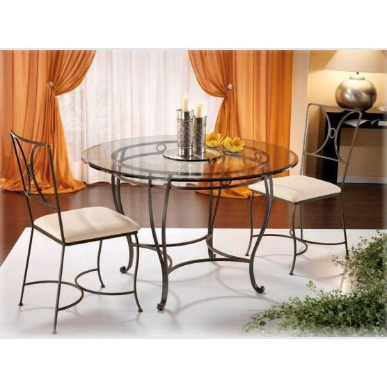 Table Ronde 4 Chaises Fer Forge Garda Achat Vente Table A